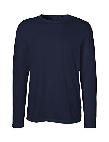 Green Cat- Herren Langarm T-Shirt, 100% Bio-Baumwolle. Fairtrade, Oeko-Tex und Ecolabel Zertifiziert, Textilfarbe: Navy, Gr.: XXL