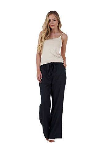 Ex Famous Store Ladies Linen Trousers Belt Holiday Womens Pants Elasticated Summer Casual Pants