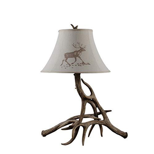 Preisvergleich Produktbild ZDDT Retro Creative Schreibtischlampe Stoff Lampenschirm Tischleuchte Schlafzimmer Studio Leselampe