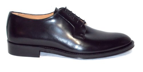 Brawn's chaussure Homme in Peau spazzolata fondo Peau 046 Cordovan Noir Noir