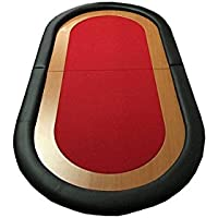 Tapete Poker Plegable en 2 VARIOS COLORES (Rojo)