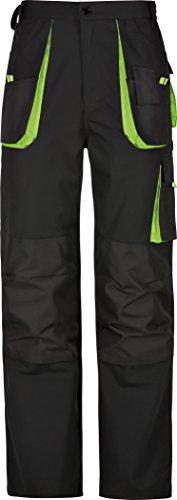 Kinder Arbeitshose Bundhose Canvas-Power 270 schwarz-grün (122/128)