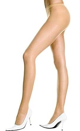 Boldnyoung Women High Waist Skin Sheer Stockings (Beige, Free Size)