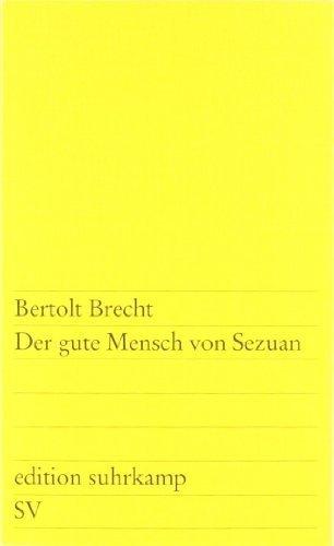 Der gute Mensch von Sezuan by Brecht published by Suhrkamp Verlag (1900)