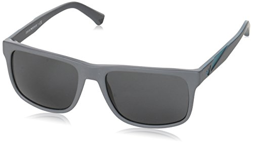 Emporio Armani Unisex-Erwachsene Sonnenbrille Earmani 4001, Schwarz (Black 550287), 56