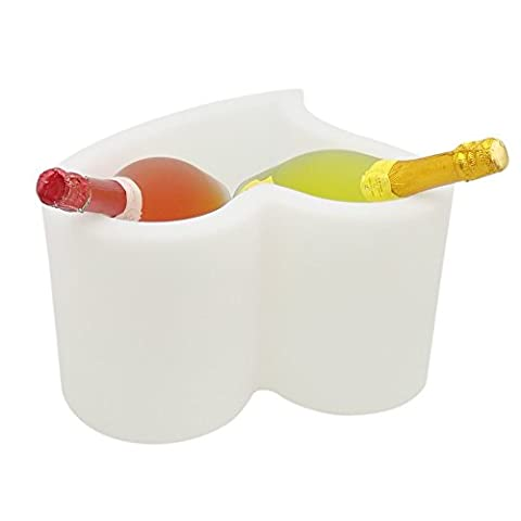 PE blanc Changement de couleur Ice Party Bucket Battery Operated TCD-2023