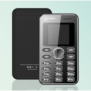 Kechaoda K55 Mini ultra slim card size Mobile phone With Bluetooth Black Colour