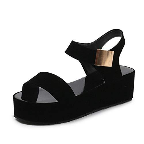 Frauen High Heel Sandalen Peep-Toe- Römische Mode Hohe Plateauschuhe Weiblichen Dicken Boden Einfarbig Grundlegenden Stil Sandalen