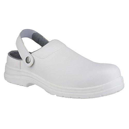 Amblers FS512 Unisex Clog / Sicherheitsschuhe Weiß