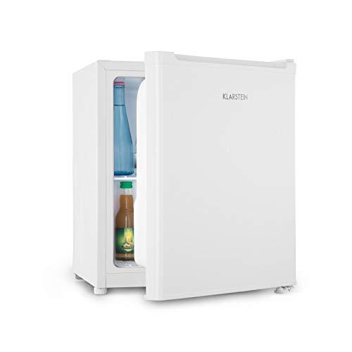 Klarstein Snoopy Eco - Mini-Kühlschrank mit Gefrierfach, 46 Liter Fassungsvermögen, 4 Liter Gefrierfach, 41dB leise, stromsparend, weiß