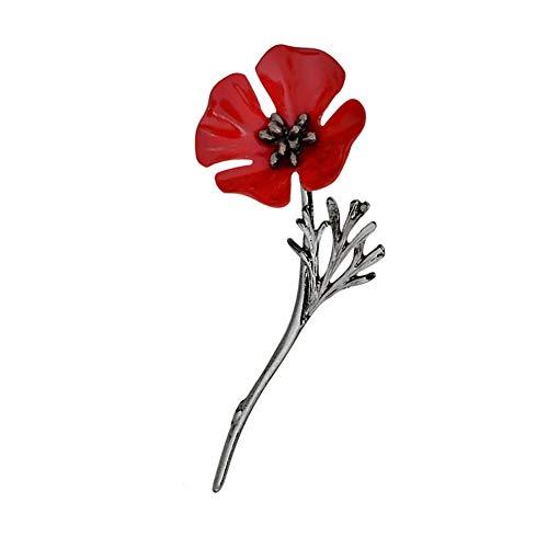 Red Rose Brosche Retro Blume Legierung Kristall Schmuck Mann und Lady Party Zubehör