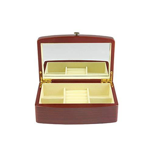 Li.Du Jewelry Box Mode Retro Holz Schmuckschatulle Europäischen Dreischichtigen Schmuckschatulle
