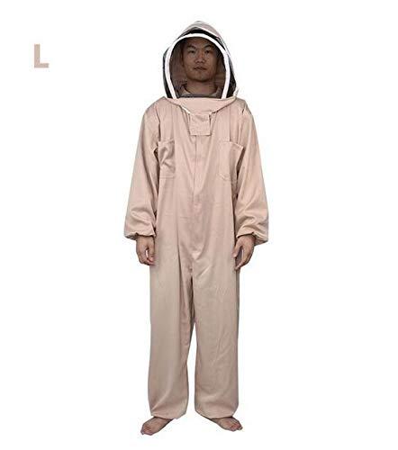 MEICHEN 1 STÜCK Siamesische Schutzkleidung Anti-Biene Raumanzug Verdickung Imkerei Kleidung Anti Biene Mantel Biene Kappe Imkerei Werkzeug,L - Verdickung Verlassen
