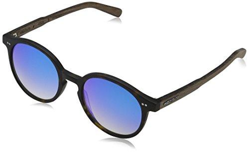 Wood Fellas Unisex Solln Sonnenbrille, Mehrfarbig (havanna/mirr. blue 5113), Herstellergröße: one Size