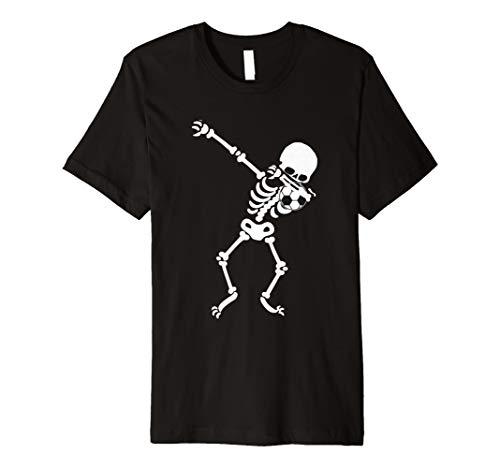 Halloween Sanftes Skelett Fußball T-Shirt Funny DAB Shirt
