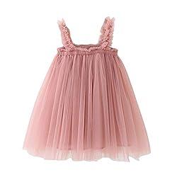 Baby Mädchen Kleid Blumen Spitze Tüll Taufkleid Kinder baby prinzessin kleidergurt tüll Einfarbig dress Hochzeits Festlich Von Vovotrade