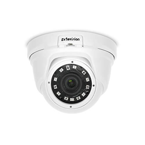 Evtevision 5MP Super HD PoE IP Kamera, H.265 IR Dome Überwachungskamera, Onvif HD Sicherheitskamera für Indoor und Outdoor, 20M Infrarot Nachtsicht,IP65 wetterfest,Bewegungserkennung, Fernzugriff Super Ir-wetterfeste Kamera