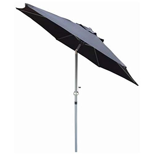 Redwood Leisure Redwood BB-UB128 Parasol inclinable avec manivelle en Aluminium Noir 2 m
