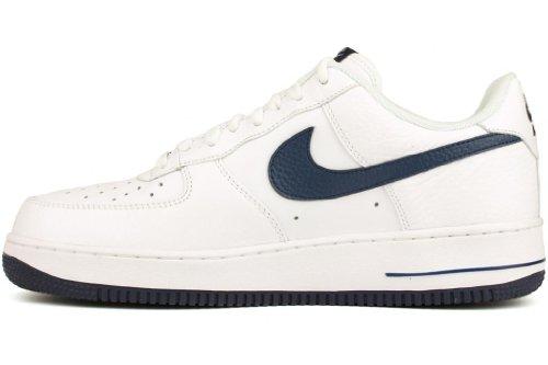 Nike Air force 1 488298120, Baskets Mode Homme Blanc et bleu