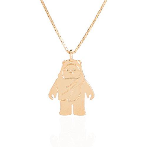 Malaika Raiss Damen Halskette Star Wars Ewok Anhänger 24 Karat vergoldet - ()