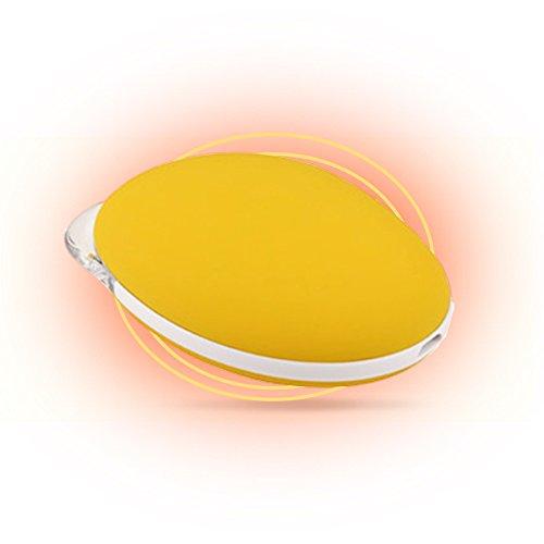 liwuyou Mangue rechargeable USB en forme de mini poche chauffe-mains Chauffage soufflant portable universel 3500mAh Power Bank téléphone portable, jaune