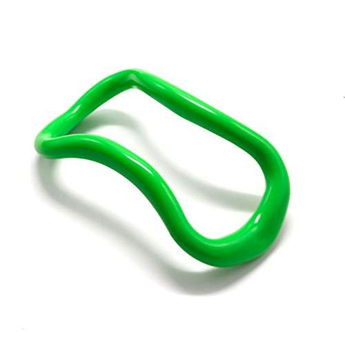 Techwills 2 Stück Yoga Ring Yoga-Ausrüstung Yoga-Ring Pilates-Ring-Fitness-Kreis-Trainings-Widerstand-Stützwerkzeug Kalb-Massage für Damen (1 Stück Grün) (Kalb-ausrüstung)