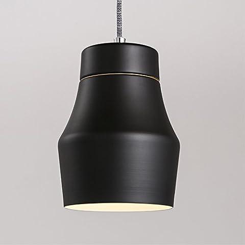 qwer Il Nordic stile minimalista moderno lavoro creativo ufficio ferro ristorante elegante per singolo capo bar piccoli lampadari ,15-P4290BK coperchio