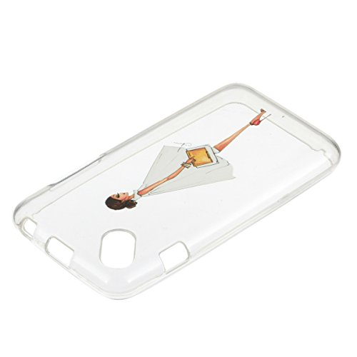 Wiko Sunset 2 Custodia Silicone, Custodia Cover per Wiko Sunset 2 in Silicone Transparente, JAWSEU Creativo Disegno Ultra Sottile Slim Cristallo Chiaro Custodia per Wiko Sunset 2 Protettiva Bumper Cas Sexy Donna