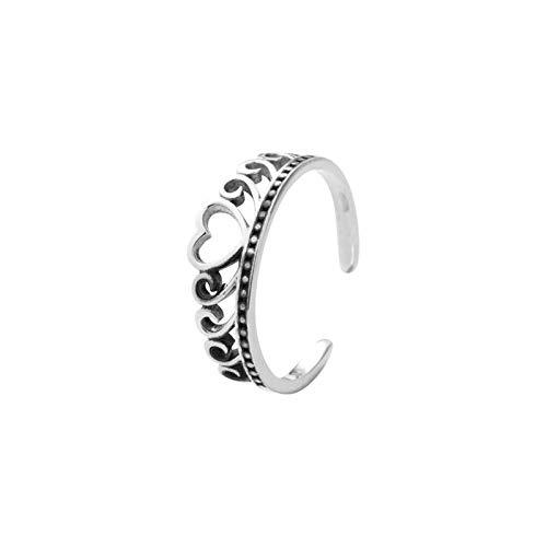 Beydodo Sterling Silber Ring Frauen Krone Ehering Trauring Silber