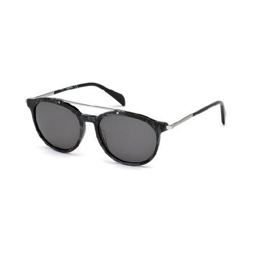 Diesel Sonnenbrillen Unisex 0188 05A, Black Marble / Smoke Kunststoffgestell