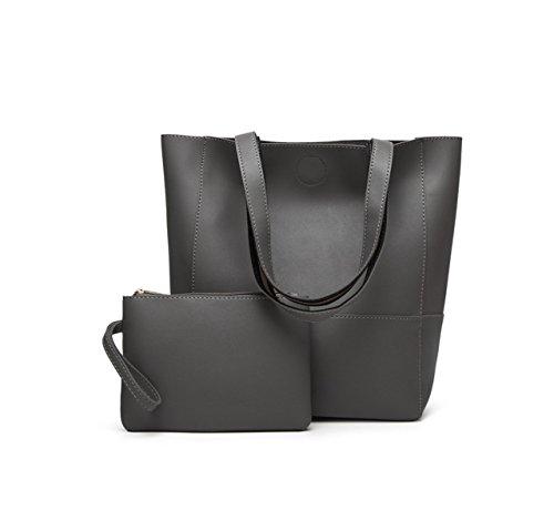 La Signora Borsa Tracolla Messenger Bag Tote Grey
