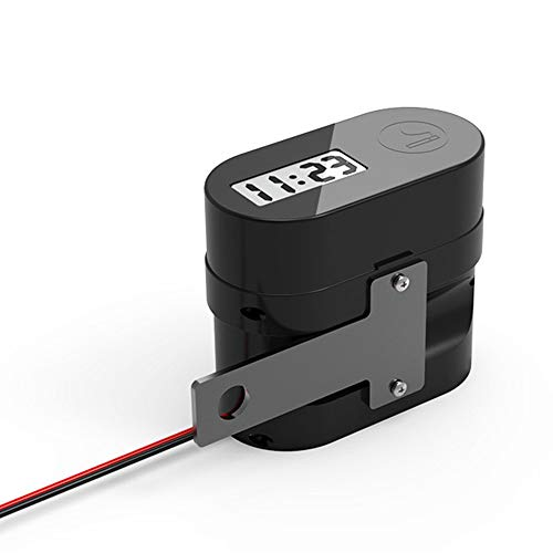 KKmoon Presa Doppia per Caricabatterie USB, Accendisigari Voltmetro a LED, Adattatore per Presa Pinza Manubrio Impermeabile per Moto