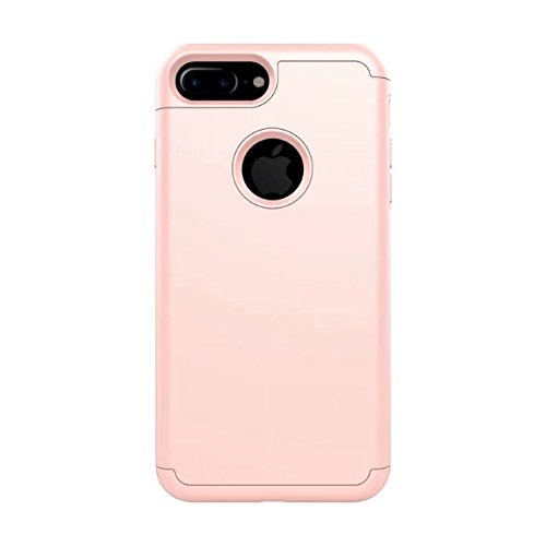 iPhone 8 Coque, Lantier 2in1 Hybrid Case pour iPhone 8. Hard Cover pour Iphone 8 Printed Design Pc+ Silicone Hybrid High Impact Defender Case Combo Hard Soft pour Apple iPhone 8 Or rose