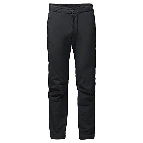 Jack Wolfskin Herren Activate Thermic Pants Men Softshell-Hose, Schwarz, 56 (EU) schwarz