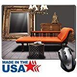 MSD Naturkautschuk Maus Pad/Matte mit genähte Kanten 9,8x 7,9Vintage Möbeln verziert im Wohnzimmer Bild 23879413 (Wohnzimmer-gewebe-stühle)