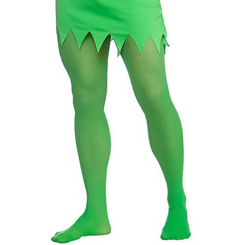 Kostüm Bösen Übergröße - Unbekannt Wicked Costumes Erwachsenenstrumpfhose Elfe Grün (Übergröße) Weihnachten Krippenzubehör