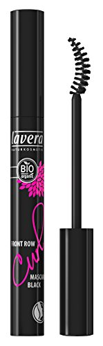 lavera Front Row Curl Mascara Wimperntusche ∙ Farbe black schwarz ∙ Volumen, Schwung & Definition ∙ Natural & innovative Make up ✔ vegan ✔ Bio Pflanzenwirkstoffe ✔ Naturkosmetik ✔ Augen Kosmetik 1er Pack (1 x 9 ml)
