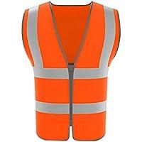 RAINCOAT Fahrradanzug- Reflektierende Weste, Verkehrssicherheitskleidung Gebäudekonstruktion Reflektierende Schutzweste -Regenmantel (Farbe : Orange, größe : 4 Packs)