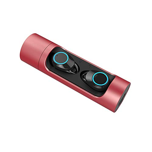 DEYE Prompt vocale Bluetooth 5.0 Cuffie-Cuffie Wireless Microfono Incorporato con cancellazione del Rumore IPX6 Impermeabile Progettato per la Corsa e...