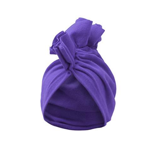 Lazzboy Süßes Baby Kinder Kleinkind Mädchen Jungen Warme Wintermütze Hut Mütze Tücke Neugeborene Baumwolle Elastische Stretch Turban Stirnbänder Knoten Stirnband(E)
