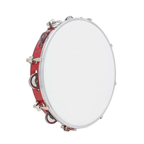 JohnJohnsen 10-Zoll-Einstellbare Hand Tambourine (rot)