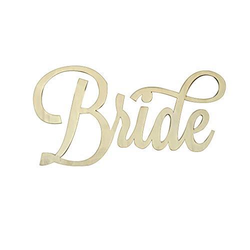 F-blue Braut-Bräutigam-Brief Hochzeit Stuhl zurück Dekor aus Holz Etikett Plaque-Zeichen Photo Props Ornament Leicht hängend