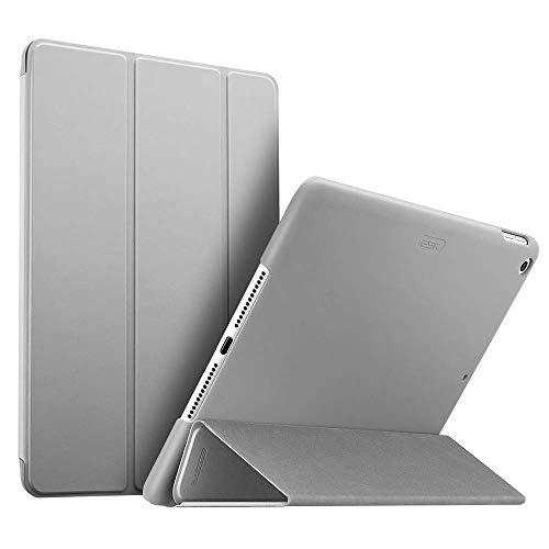 ESR Kunstleder Hülle kompatibel mit iPad 2018/2017 Modell 9,7 Zoll - Ultra dünnes Smart Case Cover mit gummierter Rückseite - Magnet mit Auto Sleep/Wake Funktion für iPad 6.Gen - Silber