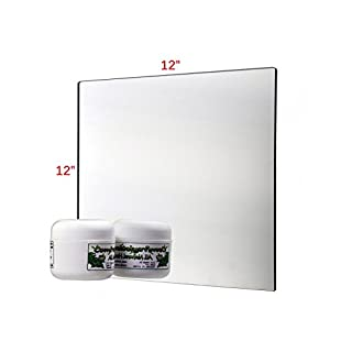 Pkg of 10 Plastic Mirrors with Rounded Corners 12