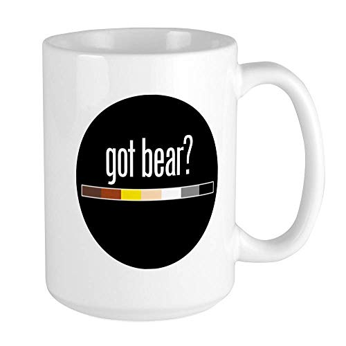 SHALLY Got Bear Gay Pride Flag Funny Coffee Mug Cool Coffee Tea Cup 11 Ounces Large Mug Coffee Drink Cup for Family and Friend -