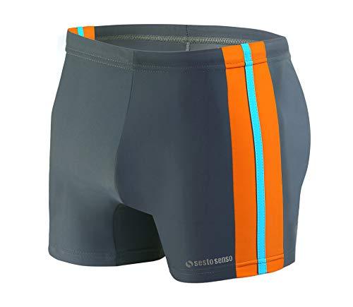 Sesto Senso Maillot de Bain Homme Boxer Trunks Shorts Pantalon (Tailles de M à 4XL) Slips Natation de Sport BD 382 (M, Graphite)