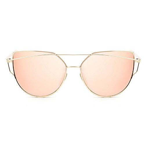 Forepin® Gafas de Sol Mujer y Hombre Polarizadas Moda Marca Metal UV4