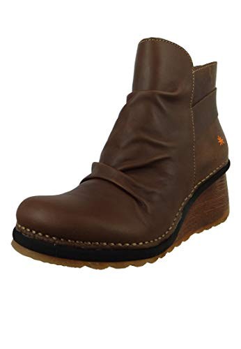 ART Leder Keil-Stiefelette Ankle Boot Tampere 1463 Brown Adobe Braun, Groesse:41 EU / 7.5 UK / 9.5 US -