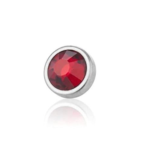 4,5 mm - LR - Light Rose/ Hell Rosa - Titan - Dermal Anchor Flat-Disc - Kristall - 1,2 mm (Piercing Aufsatz Surface Implantat Microdermal Hautanker)