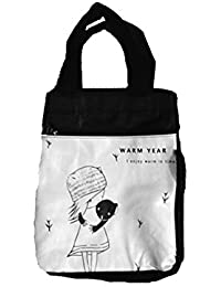 CONNECTWIDE® Cute Cartoon Women Bag Flower Animals Printing Oxford Storage Bags Lunch Bag For Girls Food Bag School...